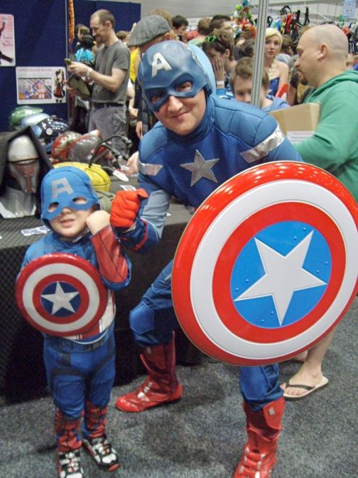 Captain America, and Captain America. (From The Avengers)