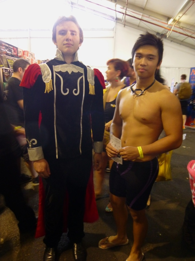 Haruka Nanase, Free! (Please leave a comment if you know the character cosplayed on the right of Haruka)