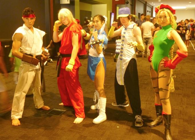 Ryu, Ken, Chun-Li, Yun, and Cammy White, Street Fighter II and III.