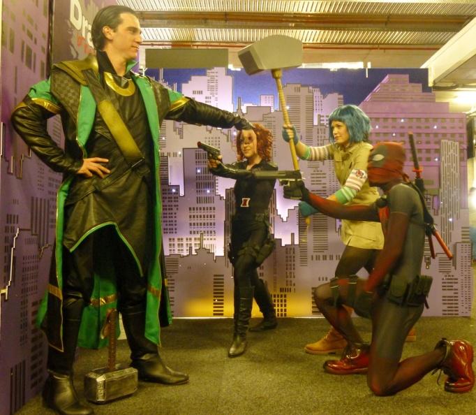 Loki, Black Widow, Deadpool, Marvel Comics. Ramona Flowers, Scott Pilgrim.